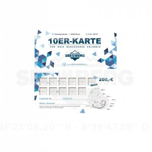 SeeimBerg 10er Karte + 1x Gartis